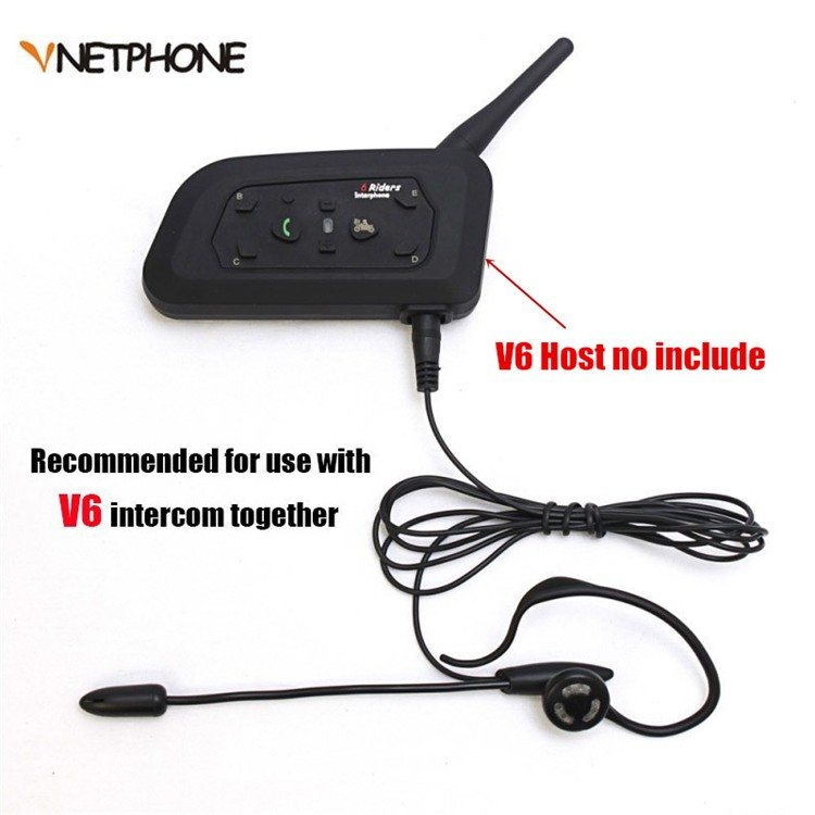 Sccoer Refree Intercom Headset Accessories Mic Speaker ONLY Suitable for V6V4V4CV6C Intercom Bluetooth Interphone 3.5mm Plug (2)