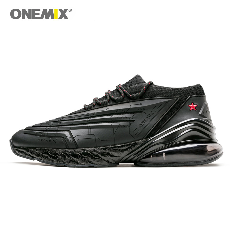 ONEMIX Men Running Shoes 95 Leather Upper Air Cushioning Soft Midsole Sneakers Casual Outdoor Shoes Max