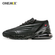 ONEMIX Men Running Shoes 95 Leather Upper Air Cushioning Soft Midsole Sneakers Casual Outdoor Shoes Max EU 47(China)