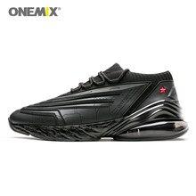 official photos 23748 e398b ONEMIX hommes chaussures de course 95 cuir Air supérieur amorti doux  semelle intermédiaire chaussures décontracté sport