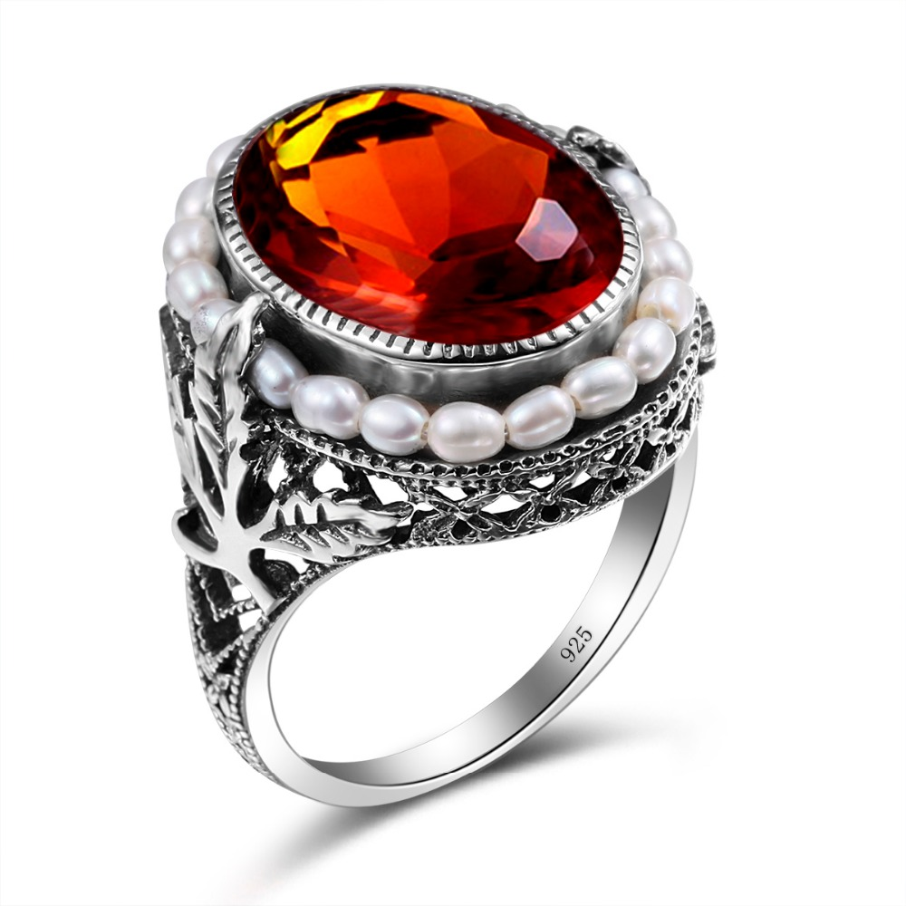 Compare prices on amber solid online shopping buy low for Amber stone wedding ring