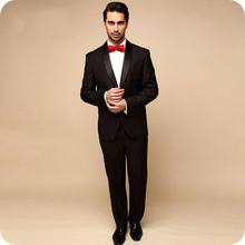 Black Men Suits Groom Wedding Suits Formal Tuxedos Prom Shawl Lapel Man Blazers Costume Homme Slim Fit Terno Masculino 2Pieces