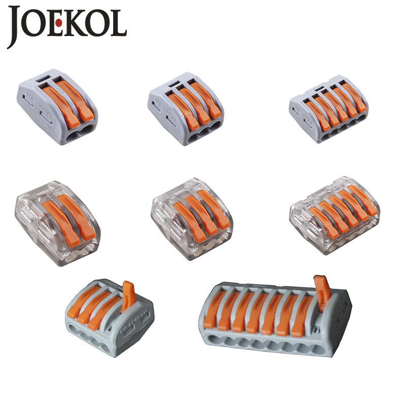 Free Shipping (30pcs/lot) WAGO mini fast wire Connectors,Universal Compact Wiring Connector,push-in Conductor Terminal Block 50pcs 221 413 original wago connector led connector compact splicing connectors 3 conductor connector original wago terminals