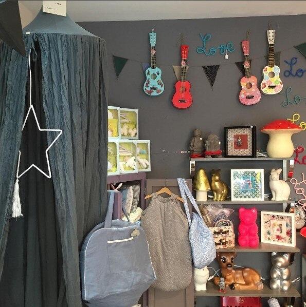 7 цветов, хлопок, для девочек и мальчиков, кровать, навес, для чтения, уголок, палатка, купол, москитная сетка, подвесное украшение, внутренний игровой домик для детей - Цвет: Dark Green