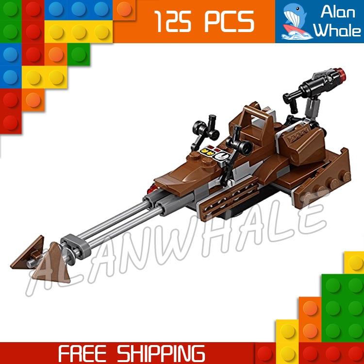 125pcs New Space Wars Rebel Alliance Battle Pack Model Building Kit 10572 3D Blocks Movie Sets Children Toy Compatible with Lego