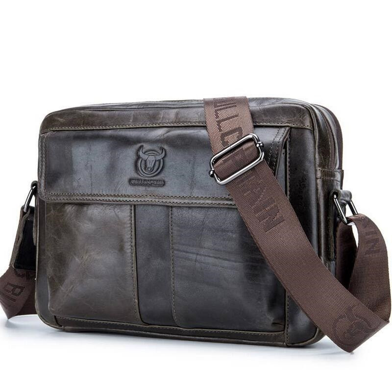 Genuine Leather Crossbody Messenger Shoulder Bag Men Business Cowhide  High Quality Travel Casual Male Bags  LJ-0774 men business travel crossbody shoulder handbags bag luxury style messenger bag high quality large capacity genuine leather bags