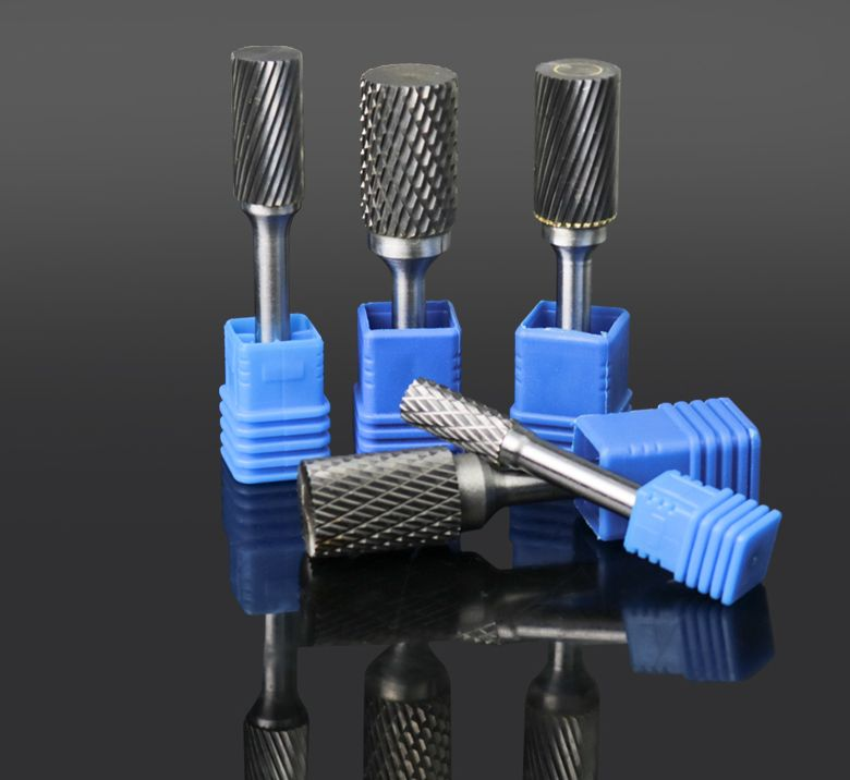 Single/Double Grooves Hard Alloy Eotary File Metal Tungsten Carbide Cutter Grinding Head Engraving Caring Knife Top Blade