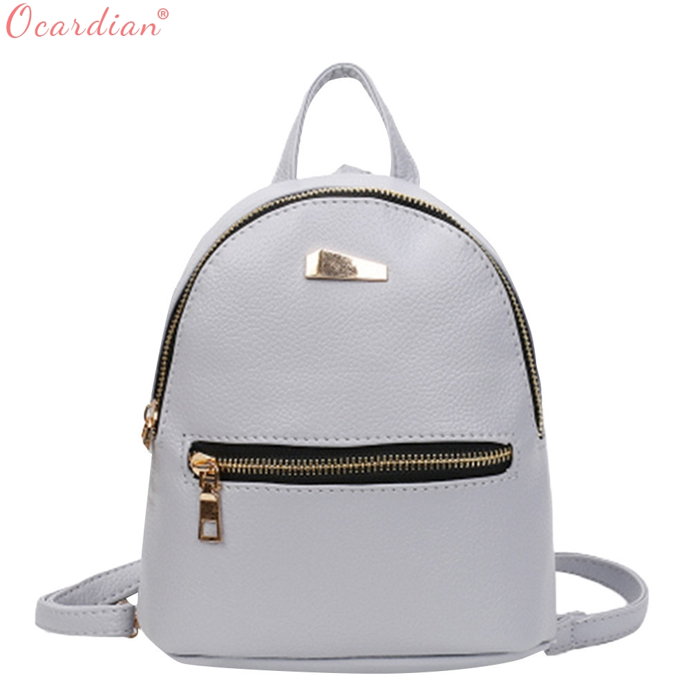 OCARDIAN Students Mini Shoulder Bag Backpacks High Quality PU Leather Fashion Girls Candy Color Small Backpack Female Bag O26 melodycollection candy color pu leather mini backpack for women girls purse fashion schoolbag mini casual daypack dome backpacks