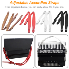 2019 New 1 Pair Soft Synthetic Leather Accordion Shoulder Straps Belt for 16-120 Bass Accordions 83-110cm Adjustable Length