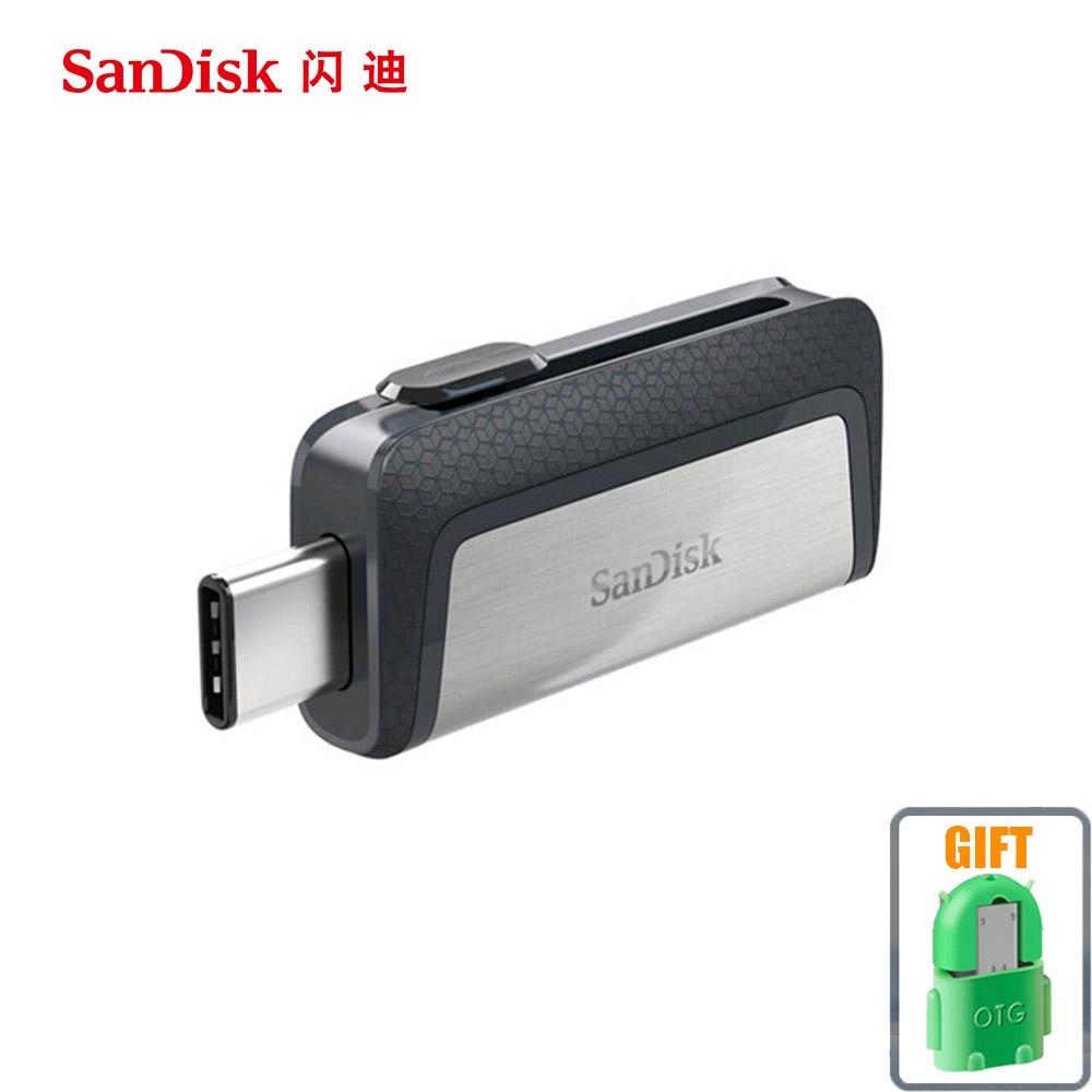 Sandisk USB Flash Drive 16GB 32GB 64GB 128GB 150MBS Type-C USB3.1 Dual OTG Pen Drives USB Flash PenDrives for Phone Computer PC