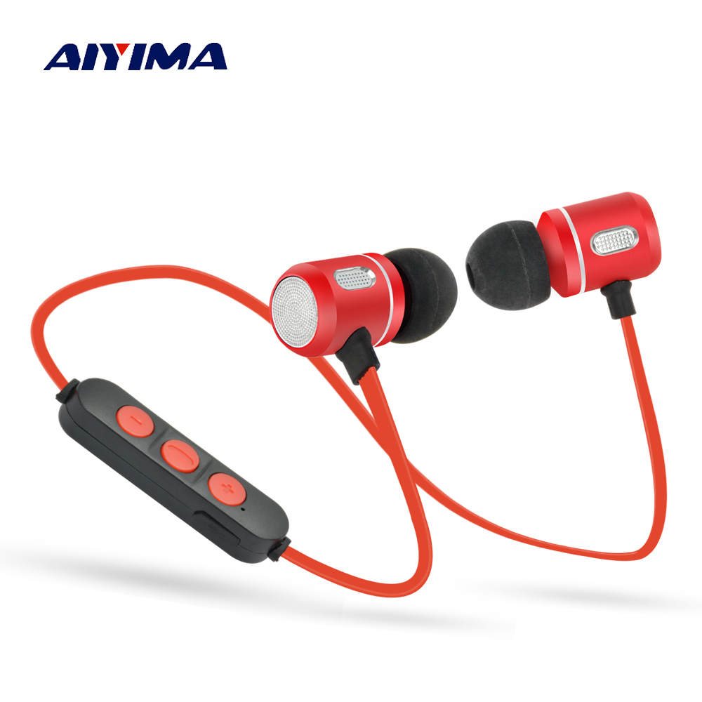 AIYIMA Audio Portable Audifonos Necklace Headsets Bluetooth Sport Earphone Headphone Wireless Stereo Music Gaming Headphones aiyima headphones gaming headset 3 5mm foldable sport earphone audifonos hifi stereo sound music portable earphone
