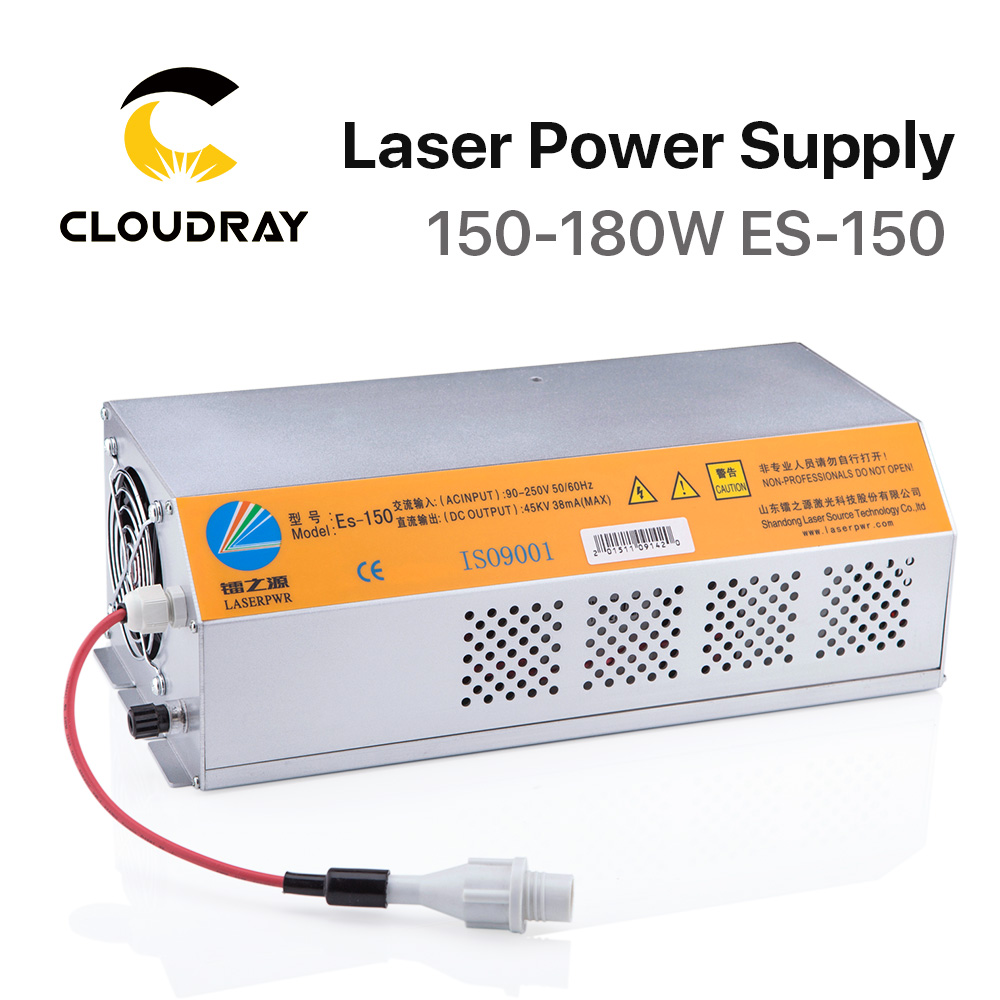 Cloudray 150-180W CO2 Laser Power Supply For CO2 Laser Engraving Cutting Machine HY-Es150 ES150 Es Series
