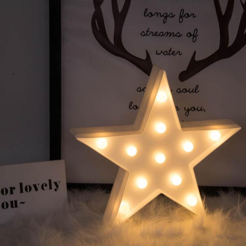 3D LED Night Light Star Moon Kids Bedroom Indoor Lighting Decor Lamp for Home Living Room Bedroom Night Lighting Creative Gift