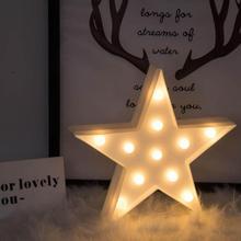 3D светодиодный Ночной светильник с изображением луны и звезд, детская Спальня Освещение в помещении светильник ing Декор для дома Гостиная Спальня ночной Светильник ing креативный подарок