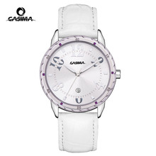 Luxury brand watches Fashion&Simple women casual quartz watch personality leather strap waterproof  50m CASIMA#3008
