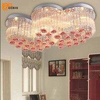 Свадебные украшения Современного Хрустальная люстра красочные светодиодный Crystal Light гостиная спальня лампа