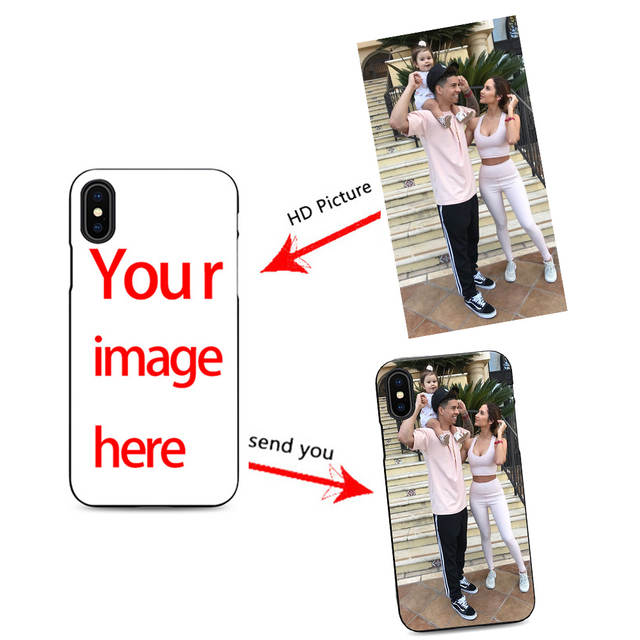 new product 25974 46262 US $1.99 |ace family make my own cell phone case you custom for iPhone X XR  XS MAX 6 7 8 plus 5 6s customize your photo cheap black cover-in ...