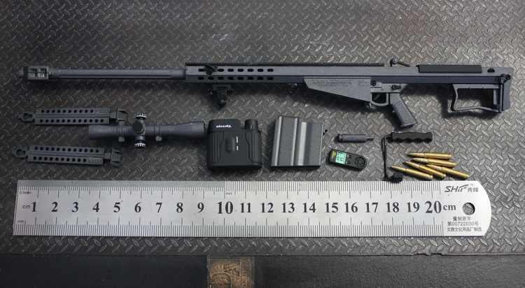 [ESTARTEK] Minitoys M107A1 / M82A1 1/6 Barrett Sniper Rifle Alloy Model  Weapons for 12