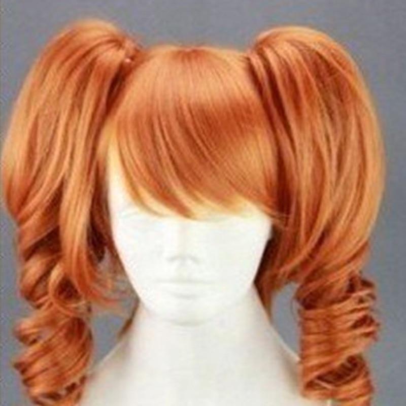 HAIRJOY Anime 45cm Μεσαίο μήκος Πορτοκαλί - Συνθετικά μαλλιά - Φωτογραφία 3