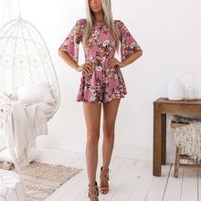New Arrival Womens Holiday Mini Playsuit Ladies Shorts Jumpsuit Summer Beach