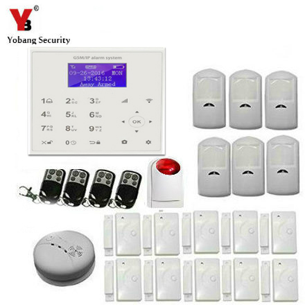 YobangSecurity Wireless wifi GSM GPRS Home Security Alarm System Smart Home Automation System Wireless Siren IOS/Android App yobangsecurity touch keypad wireless home wifi gsm alarm system android ios app control outdoor flash siren pir alarm sensor