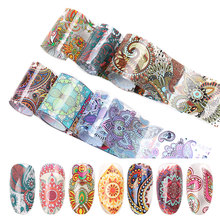 10 colours nail sheet set transfer sticker nail designs tools decal for nail leaves chinese style nail sticker цены