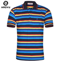 2016 New Stock Men's Polo Shirt Famous Brand Factory Direct Sale Personality Colorful Striped Comfortable Free Shipping