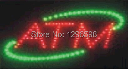 2017 hot sale custom led sign 10x19 Inch Semi-outdoor Ultra Bright running ATM display