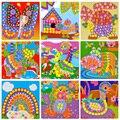 Hot criativo 3d mosaicos adesivo jogo animalstransport artes artesanato puzzle para crianças brinquedos educativos eva diy brinquedos modelo de construção