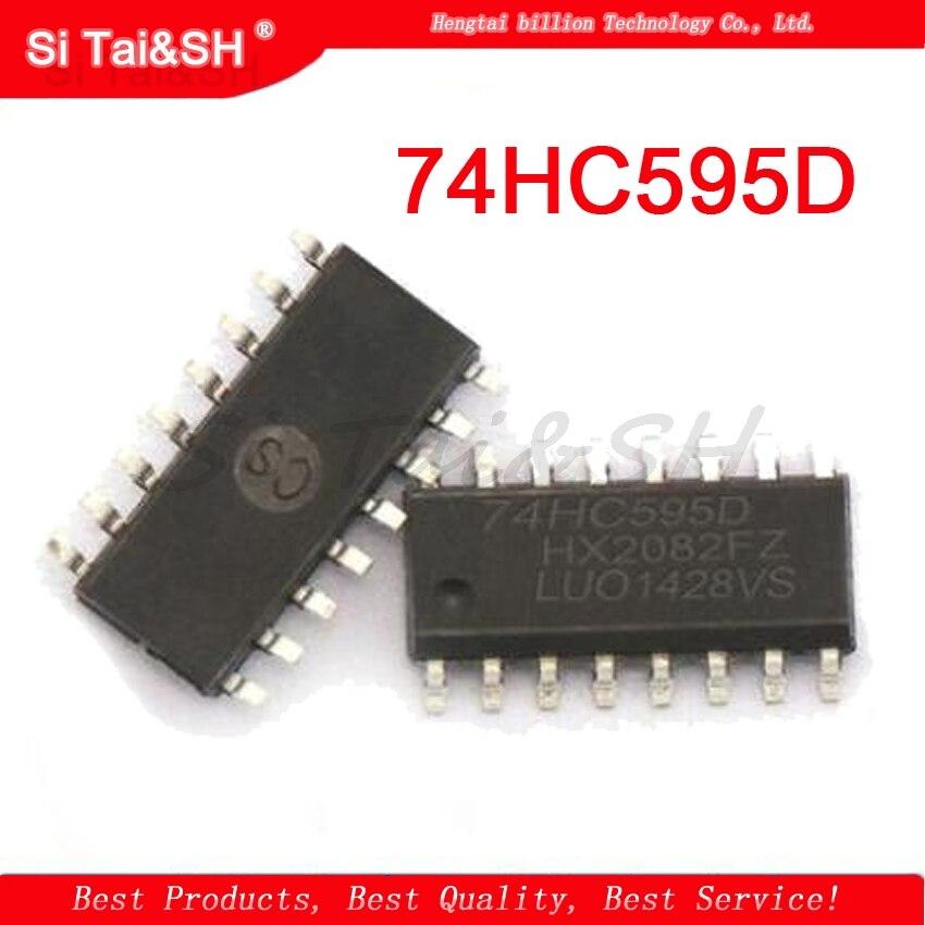 10PCS IC 74HC595 74HC595D SOP-16 8-BIT SHIFT REGISTER NEW