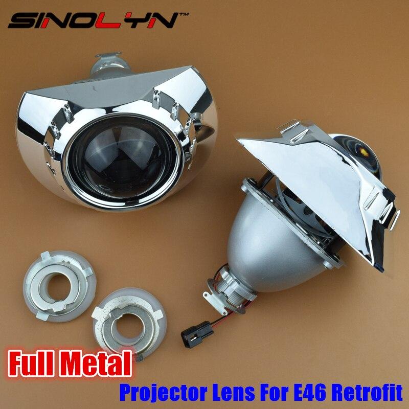 LHD RHD Full Metal 2 5 inches HID Bi xenon Lens Projector Headlight Headlamp Retrofit H7