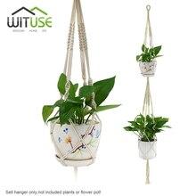 New Hanging Macrame Plant Hanger Planter Holder Basket for Garden Flower Pot Indoor Outdoor Decoration, Cotton Rope,3 Types