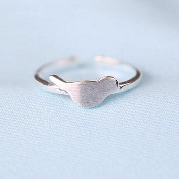 Nueva joyería de plata de ley 925, pequeño dibujo fresco y Simple de pájaros, anillo exquisito con apertura de moda coreana SR173