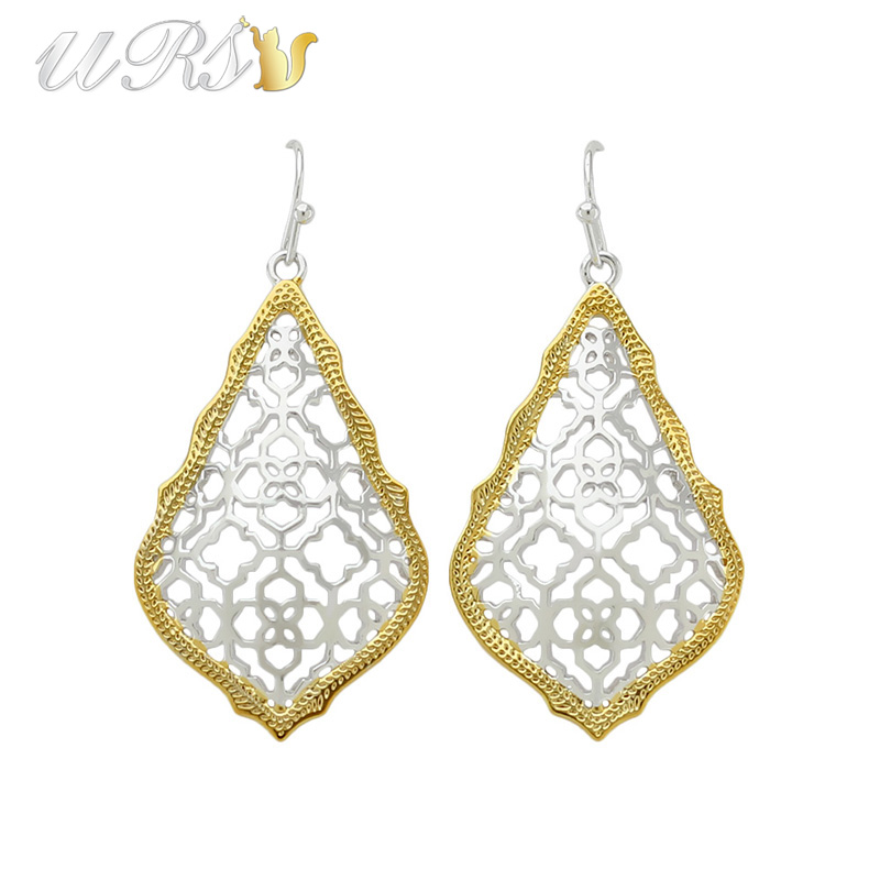 Trendy KS Addie Gold and Rhodium Plated Earrings Modern Jewelry for Women Wholesale Gift starry pattern gold plated alloy rhinestone stud earrings for women pink pair