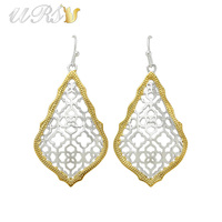 Trendy KS Addie Gold and Rhodium Plated Earrings Modern Jewelry for Women Wholesale Gift