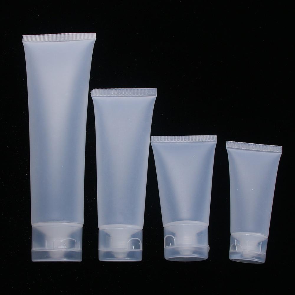 Пустые портативные дорожные трубки выдавливающий крем для косметических контейнеров пластиковые бутылки для лосьонов 20 мл 30 мл 50 мл 100 мл