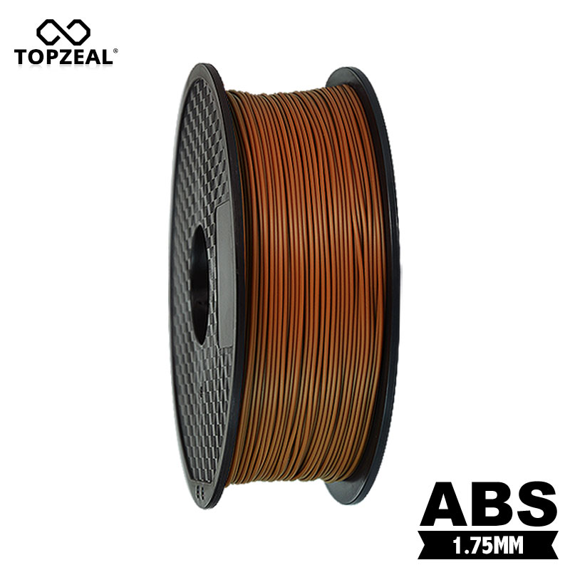 TOPZEAL Premium Quality 1KG Spool Coffee Color ABS Filament 1 75mm Diameter Printing Material Filament for