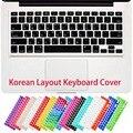 Eua coreano letras de silicone tampa do teclado adesivo para macbook air 13 Pro 13 15 17 Película Protetora para iMac Magia teclado