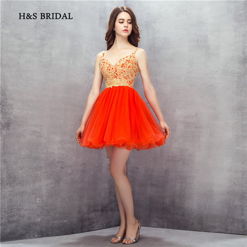 H&S Bridal Organza Short Sweetheart Mini   Cocktail     Dresses   Girls Puffy Tulle Prom Party Homecoming   Dresses