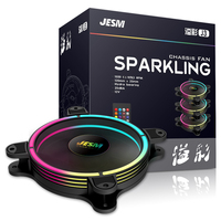 JESM AURA J3, Rgb Pwm Fans, Case 120mm Water Cooling Fans, Cpu Fans Heatsink Cooler Master, Support Sync 5v 3pin Motherboad