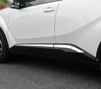 JINGHANG гальванические элементы отделки автомобиля двери анти-столкновения полосы двери боковой полосы подходят для 17-18 TOYOTA C-HR CHR 2017 2018 >> Shop 1990 Store