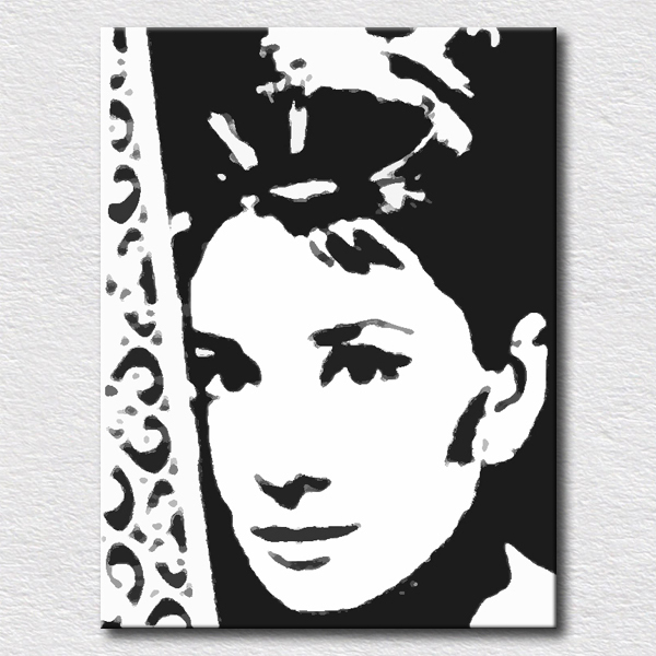 Modern Canvas Pop Art Oil Paintings For Bedroom Wall Decoration Audrey  Hepburn Wall Pictures For Friends