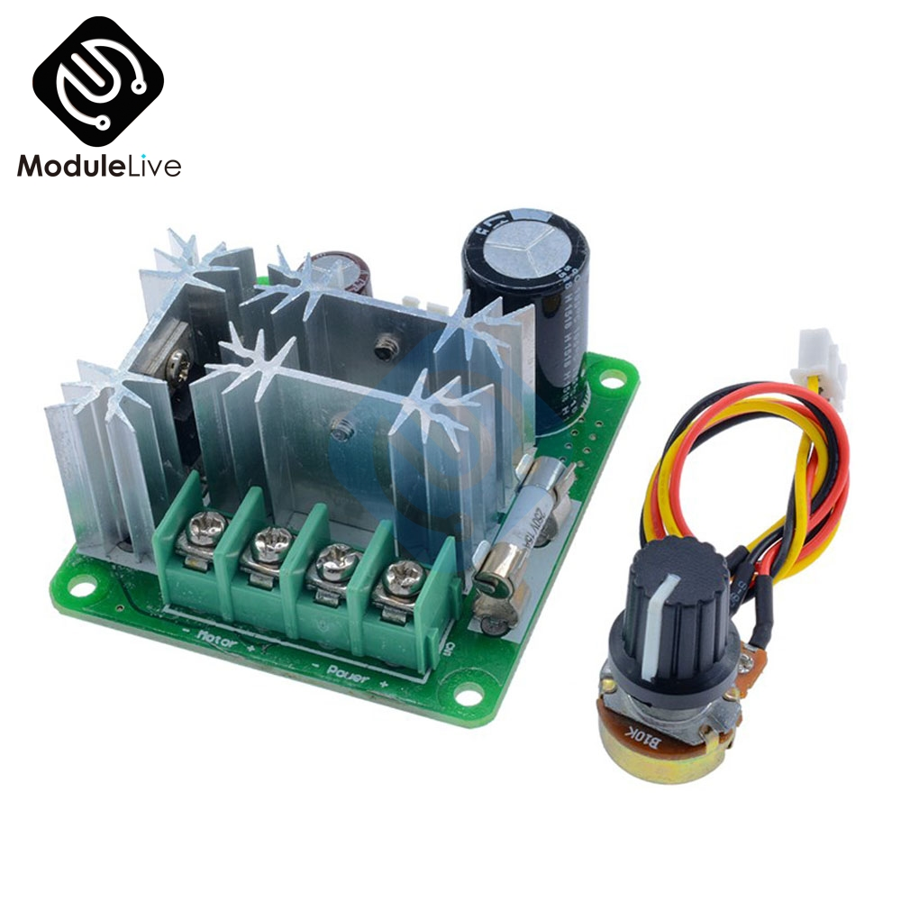 DC Motor Speed Regulator 6V-90V PWM Module 15A Digital voltage Display US