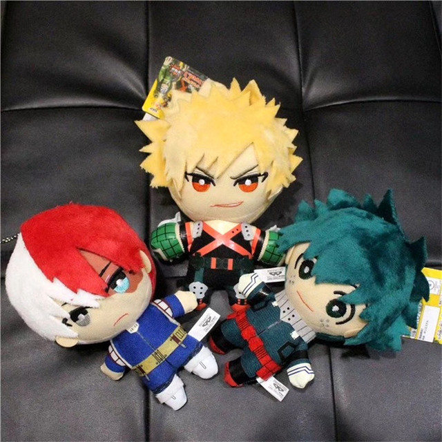 15CM Anime My Hero Academia Izuku Midoriya Katsuki Bakugou Shouto Todoroki Plush pendant toy Soft Stuffed dolls Gift 1