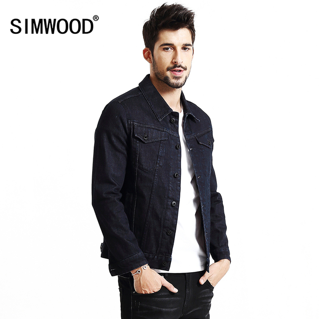 US $87.98 |SIMWOOD jas mannen 2018 Nieuwe Herfst Winter denim jasje mannen mode jeans jasje casual bovenkleding Jassen Merk Kleding NJ6523 in SIMWOOD