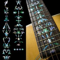 Fretboard Markers Inlay Sticker Decals for Guitar Vine Of Tree Mixed Color/White