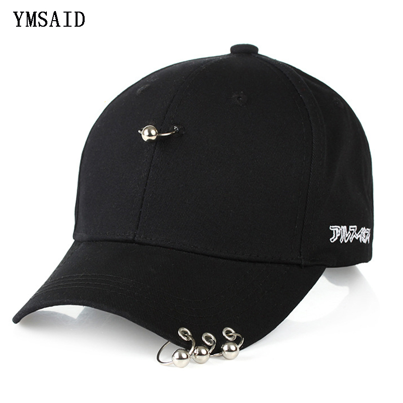 2d313b4265d Ymsaid 2019 Hot Selling Bigbang Fashion KPOP Iron Ring Ball Hats Adjustable  Baseball Cap Snapback Hip Hop Gorras