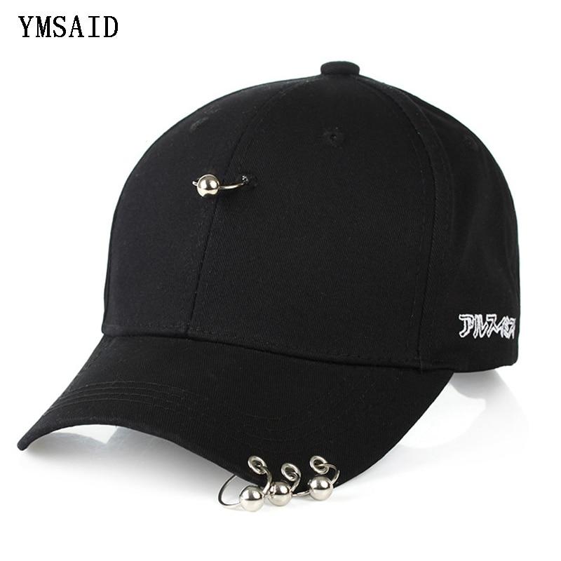 Ymsaid 2019 Hot Selling Bigbang Fashion KPOP Iron Ring Ball Hats Adjustable   Baseball     Cap   Snapback Hip Hop Gorras