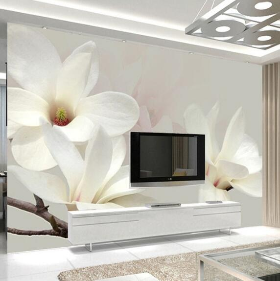 Custom Foto Wandbild Tapete Moderne Mode Lilie Blume 3d Weiß