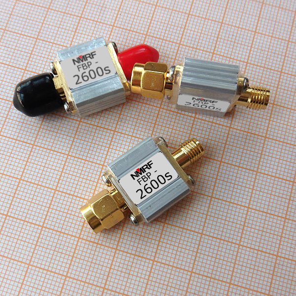 FBP-<font><b>2600s</b></font> 2600MHz SAW Bandpass Filter, 1dB Bandpass 2555-2655MHz, SMA Connection image